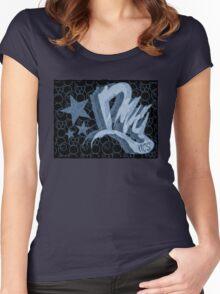 Dreamer Pattern Blue Women's Fitted Scoop T-Shirt