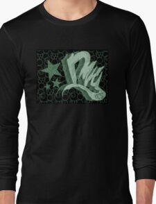 Dreamer Pattern Green Long Sleeve T-Shirt