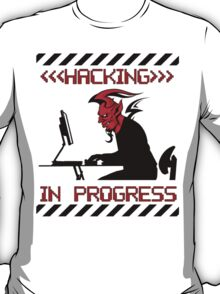 Devil Hacking in Progress T-Shirt