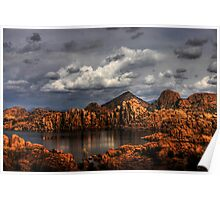 Light Paints the Dells, Prescott Arizona Poster