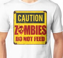 Bloody Zombies Caution Sign Unisex T-Shirt
