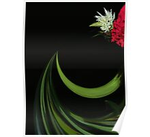Flower and Stem Abstract Poster