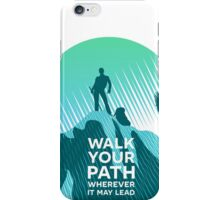 Walk Your Path - Teal iPhone Case/Skin