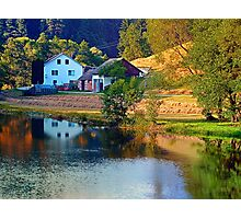 A summer evening along the river II | waterscape photography Photographic Print