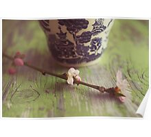 blossoms and tea Poster