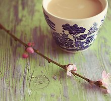blossoms and tea II by beverlylefevre