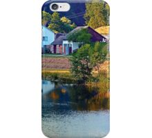 A summer evening along the river II | waterscape photography iPhone Case/Skin