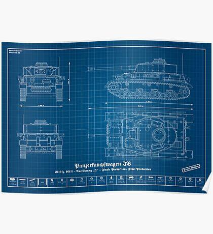 "Sd. Kfz. 161/2 - German tank - Panzerkampfwagen IV - ""Variation J"" - Final Production Poster"