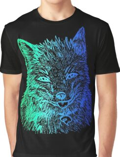 Fox (cool colors) Graphic T-Shirt