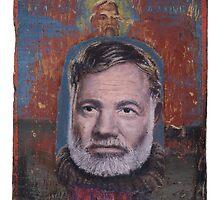 Portrait of Ernest Hemingway by robertpriseman