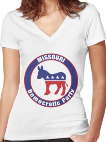 Missouri Democratic Party Original Women's Fitted V-Neck T-Shirt