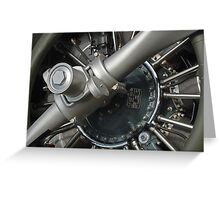 Her Engine Run All Night Greeting Card