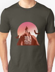 Walk Your Path - Red Unisex T-Shirt