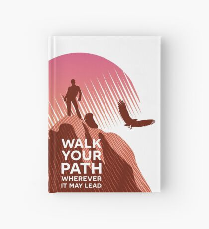 Walk Your Path - Red Hardcover Journal