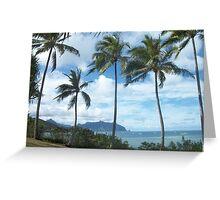 Tropical Beach, Oahu, Hawaii Greeting Card