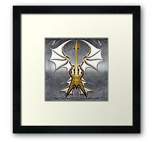 Dark Angel Heavy Guitar Framed Print