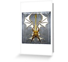 Dark Angel Heavy Guitar Greeting Card