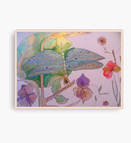 CORN COLOURED MEADOWSWEET Canvas Print