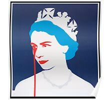 QE tears - Blue Poster