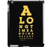 Galaxy wars from the far away star  iPad Case/Skin