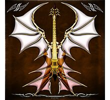 Dark Angel Heavy Guitar Photographic Print
