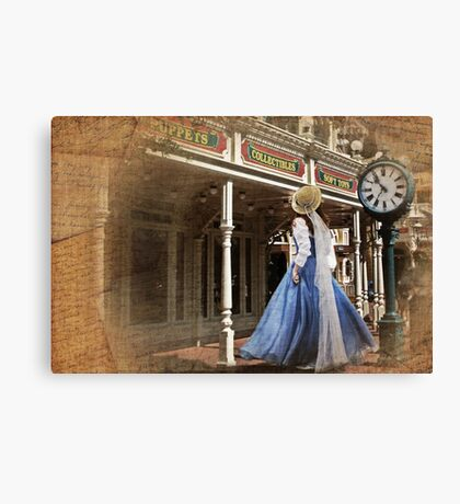 Belle in Town Canvas Print