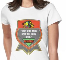 Beer Day Womens Fitted T-Shirt