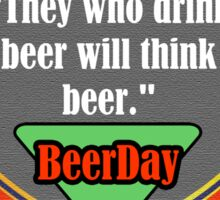 Beer Day Sticker