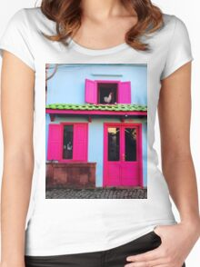 colourful cunda Women's Fitted Scoop T-Shirt