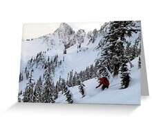 Backcountry Skiing at Snow Lake Greeting Card