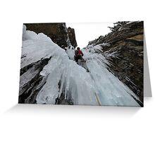 "Climbing ""Flow Reversal"" Greeting Card"