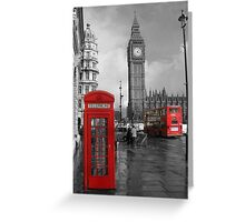 Color Selection of Telephone & Bus in London Greeting Card