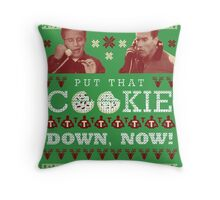 Put That Cookie Down, Now! Ugly Sweater Design Throw Pillow