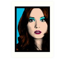 Amy Pond Pop Art (Doctor Who) Art Print