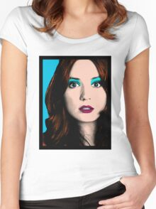 Amy Pond Pop Art (Doctor Who) Women's Fitted Scoop T-Shirt