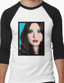 Amy Pond Pop Art (Doctor Who) Men's Baseball ¾ T-Shirt