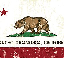 Rancho Cucamonga California Republic Flag  by NorCal