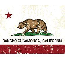Rancho Cucamonga California Republic Flag  Photographic Print