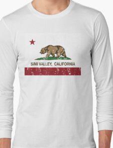 Simi Valley California Republic Flag  Long Sleeve T-Shirt