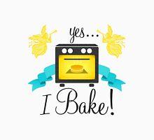 """""""Yes... I Bake!"""" Oven Emblem Unisex T-Shirt"""