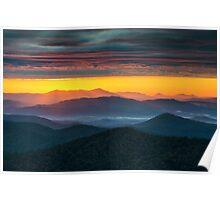 North Carolina Blue Ridge Parkway Morning Majesty Poster