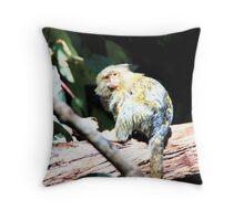 Pygmy Marmoset Throw Pillow
