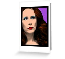 Donna Noble Pop Art Greeting Card
