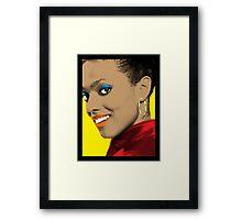 Martha Jones Pop Art Framed Print