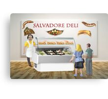 Gala and Ramon decide to have a surreal lunch at the deli. Metal Print