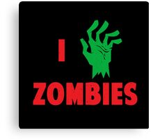 I  heart Zombies Canvas Print