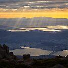 Sunbeams over Hobart, Tasmania #3 by Chris Cobern