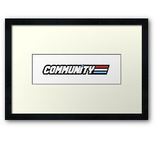 Community G.I Joe Framed Print