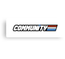 Community G.I Joe Canvas Print