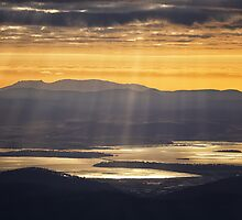Sunbeams over Midway Point, Tasmania #3 by Chris Cobern